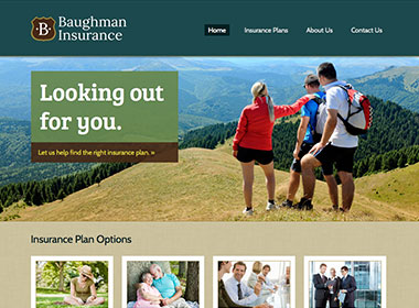 Baughman Insurance website