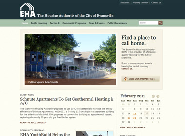 Evansville Housing Authority website