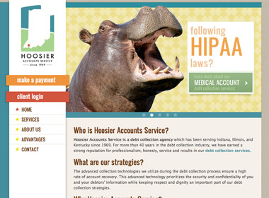 Hoosier Accounts Service website