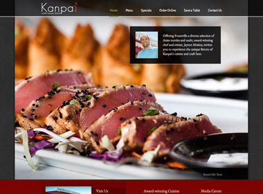 Kanpai Sushi & Asian Bistro website