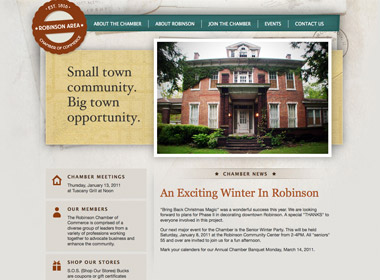 Robinson Area Chamber of Commerce Website